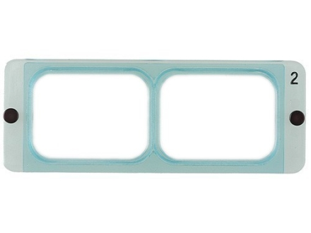Donegan Optical OptiVISOR Magnifying Headband Visor Replacement Lens Plate 1-1/2X at 20&quot;