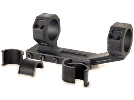 JP Enterprises 1-Piece Scope Mount with Integral 30mm Rings with 1&quot; Inserts Flat-Top AR-15 Aluminum Matte