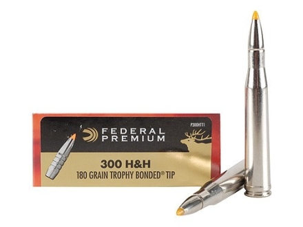 Federal Premium Vital-Shok Ammunition 300 H&amp;H Magnum 180 Grain Trophy Bonded Tip Box of 20