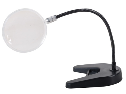 "Donegan Optical 4"" Magnifier with Flex-arm and Bench Base"