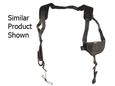Uncle Mike&#39;s Pro-Pak Horizontal Shoulder Holster Ambidextrous Large Frame Semi-Automatic 4.5&quot; to 5&quot; Barrel Nylon Black