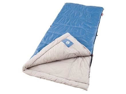 "Coleman Trinidad 40-60 Degree Sleeping Bag 33"" x 75"" Polyester Blue"