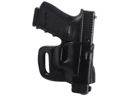 El Paso Saddlery Combat Express Belt Slide Holster Right Hand Glock 17, 19, 26, 22, 23, 27, 31, 32, 33 Leather Black