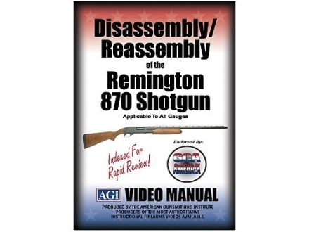 "American Gunsmithing Institute (AGI) Disassembly and Reassembly Course Video ""Remington 870 Shotgun"" DVD"
