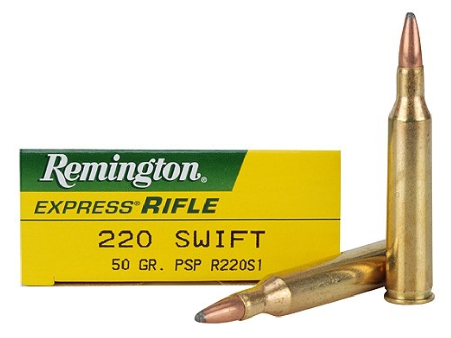 Remington Express Ammunition 220 Swift 50 Grain Pointed Soft Point Box of 20