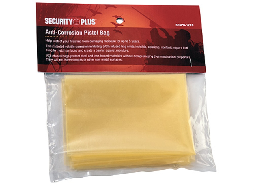 Stack-On Anti-Corrosion (VCI - Volitile Corrosion Inhibitor) Pistol Bag Clear Front Yellow Back