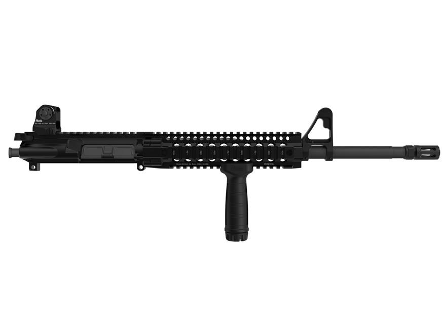 "Daniel Defense AR-15 DDM4v3 A3 Flat-Top Upper Assembly 6.8mm Remington SPC II 1 in 11"" Twist 16"" S2W Barrel Black Nitride Finish with DDM4 9.0 Quad Rail Free Float Handguard, Flash Hider"