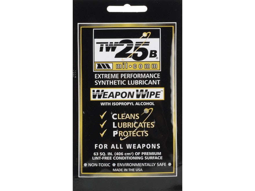 Mil-Comm TW25B Gun Grease Firearm Wipes Pack of 10