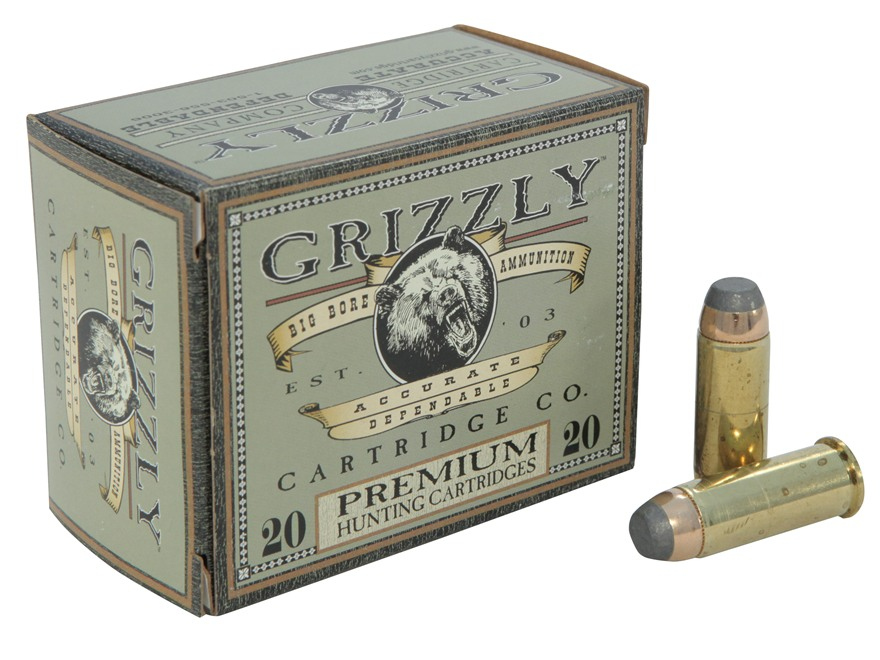 Grizzly Ammunition 44 Special 240 Grain Bonded Core Jacketed Flat Point Box of 20