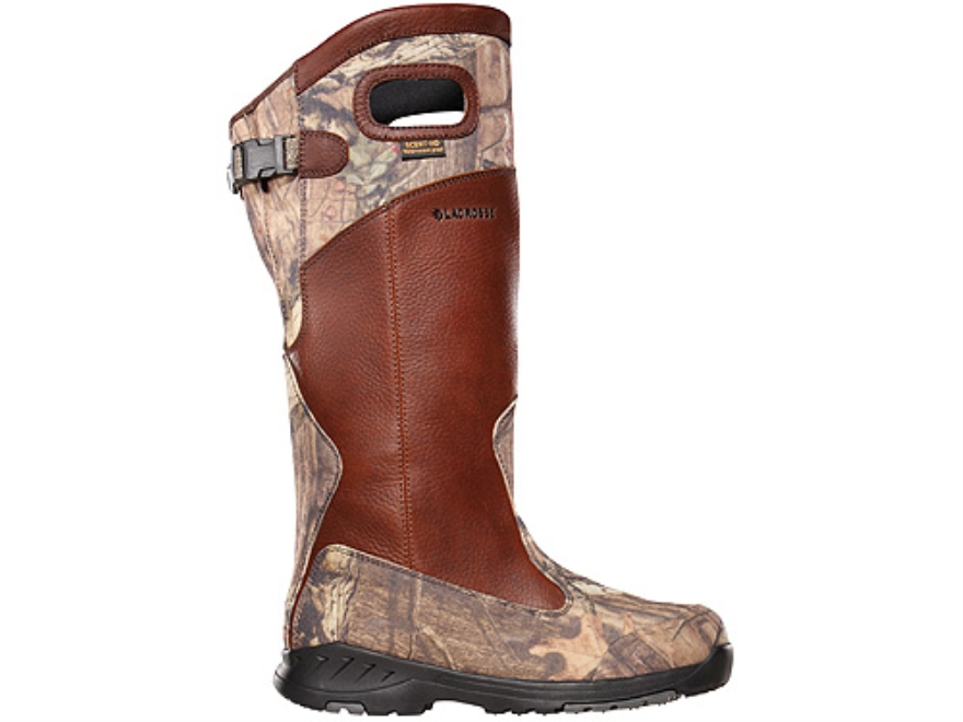 "LaCrosse Adder Scent HD 18"" Waterproof Uninsulated Snake Boots Leather and Nylon Brown and Mossy Oak Break-Up Infinity Camo Men's"