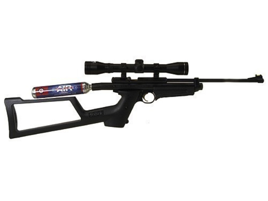 Crosman 2250 XT Air Rifle 22 Caliber Black Synthetic Stock Blue Barrel with Crosman Airgun Scope 4x 32mm Matte