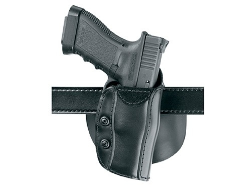 "Safariland 568 Custom Fit Belt & Paddle Holster Colt Agent, Detective Special, DS-II, SF-VI, Ruger SP101, S&W J-Frame  2"" Barrel Composite Black"
