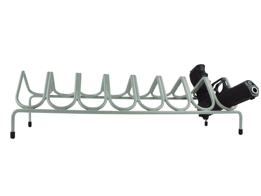 Versatile Gun Rack 8 Pistol Gun Rack Vinyl Coated Steel Gray
