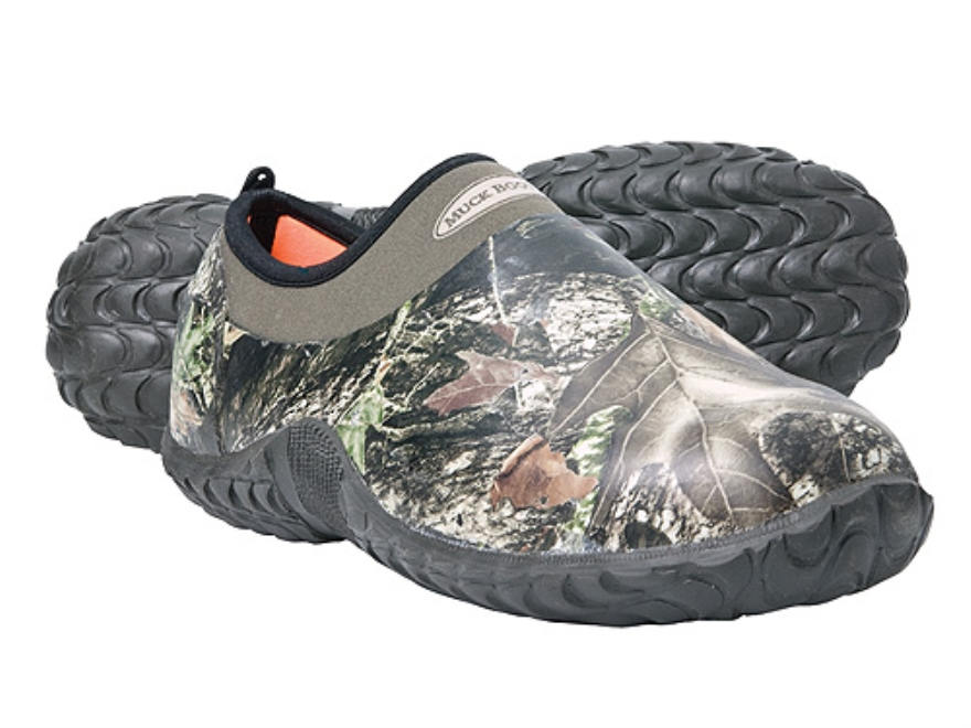 Muck Camo Camp Shoes Rubber and Nylon Mossy Oak Break-Up Camo Men's 10