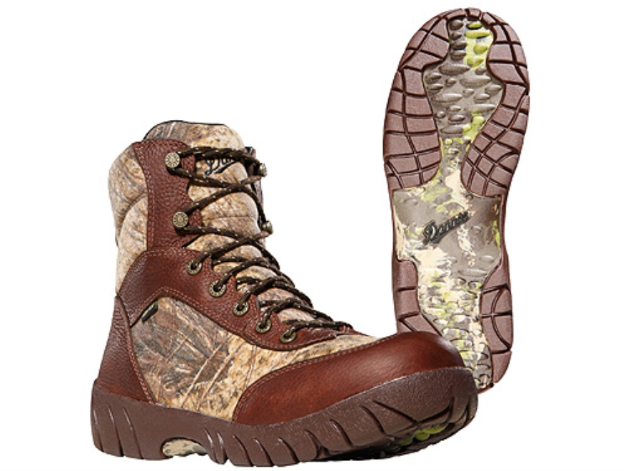 "Danner Jackal II GTX 7"" Waterproof Uninsulated Hunting Boots Leather and Nylon Mossy Oak Brush Camo Mens 7 D"