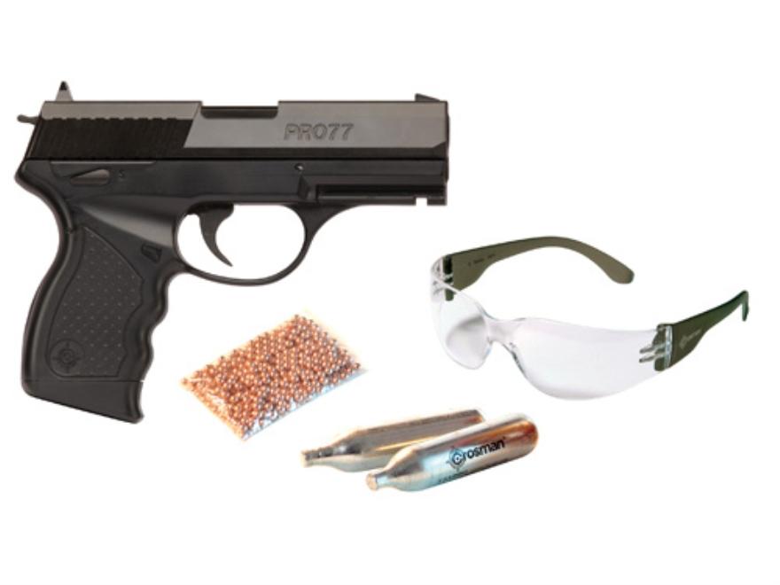 Crosman Pro77 Air Pistol Kit 177 Caliber Black