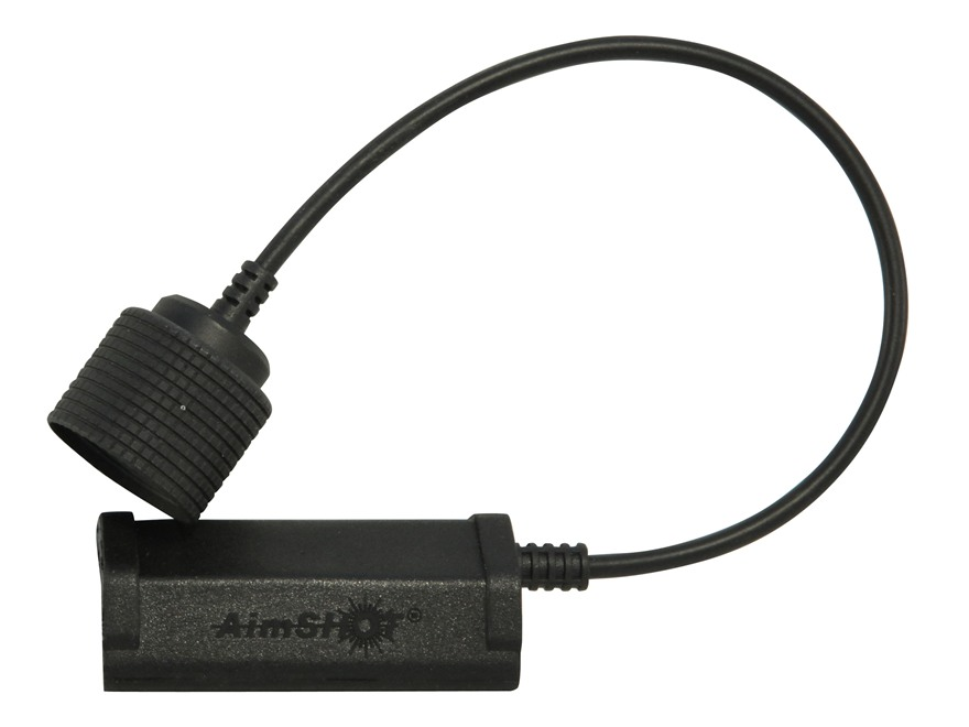 AimShot Picatinny-Style Rail Mount Pressure Pad Straight Cord Black