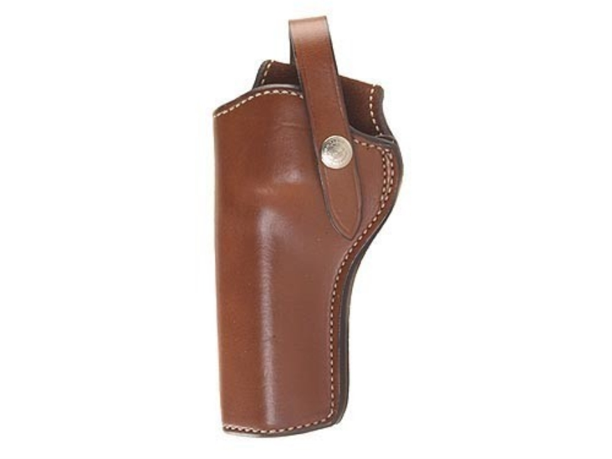 "Bianchi 1L Lawman Holster Colt New Frontier, Peacemaker 22, Ruger Single Six, Super Single Six 6.5"" Barrel Leather Tan"