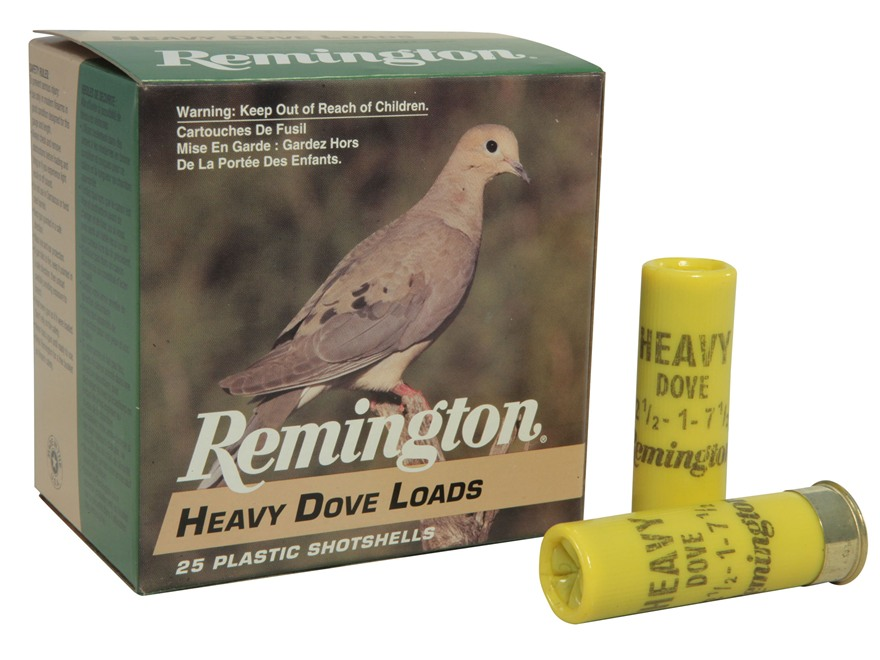 "Remington Heavy Dove Ammunition 20 Gauge 2-3/4"" 1oz #7-1/2 Shot Box of 25"