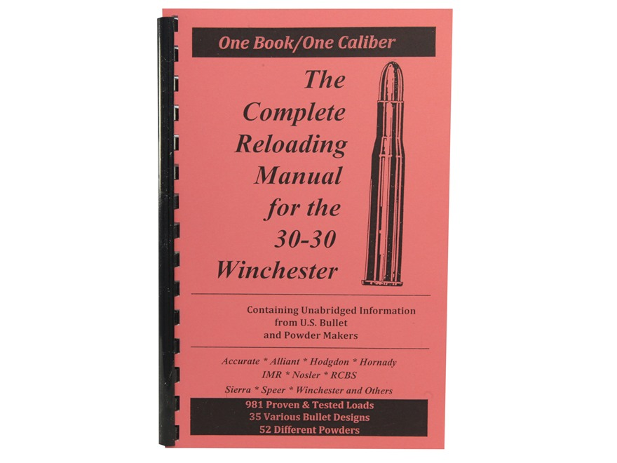 "Loadbooks USA ""30-30 Winchester"" Reloading Manual"