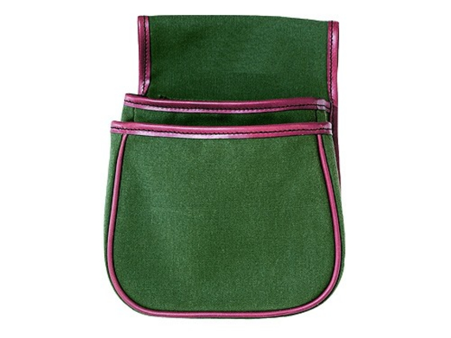 Boyt Estancia Divided Shotgun Shell Pouch Canvas and Leather Green