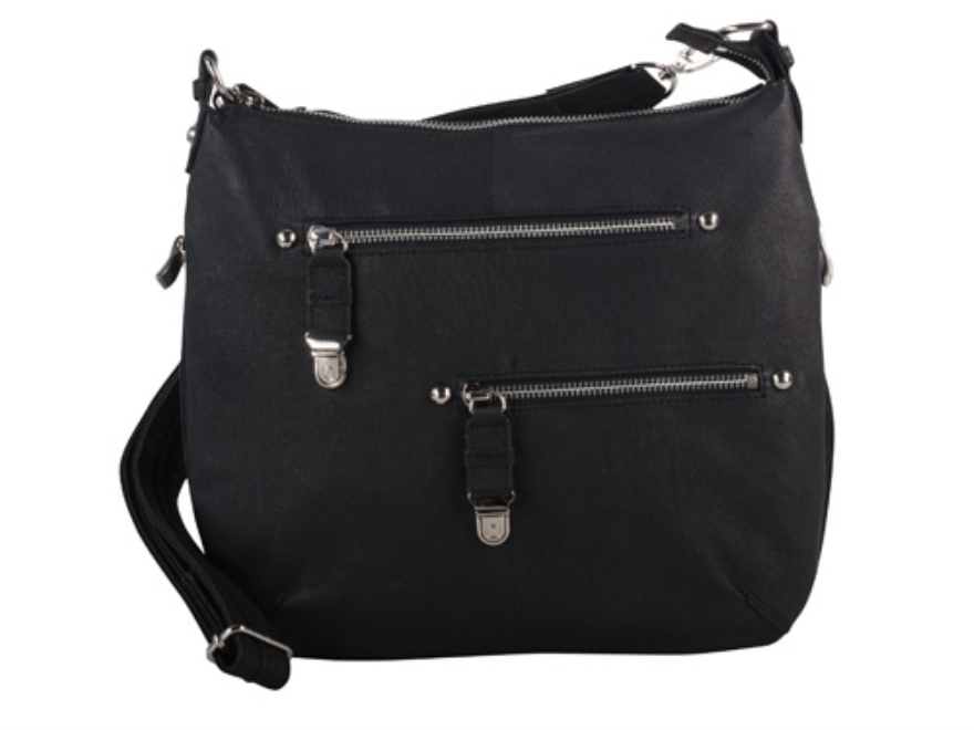 Gun Tote'N Mamas Chrome Zip Handbag Leather