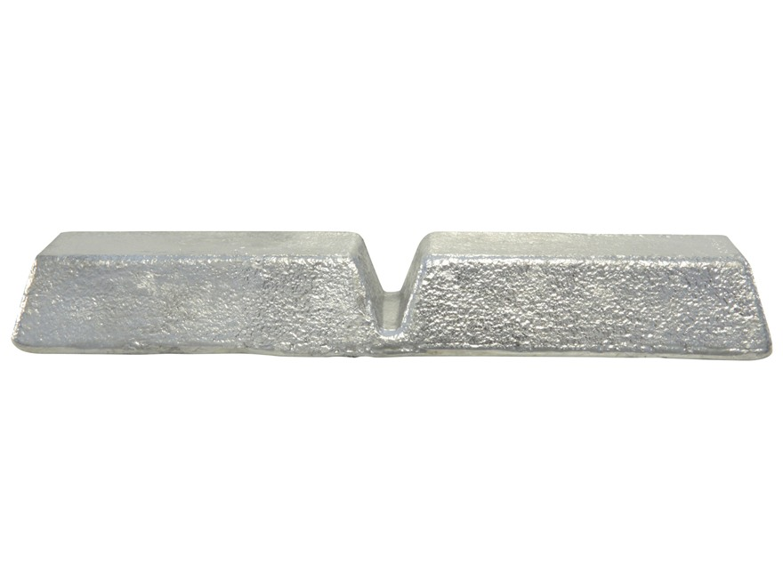 Certified Linotype Bullet Casting Alloy Ingot (4% Tin, 12% Antimony, 84% Lead) Approximately 6 lb Average Weight