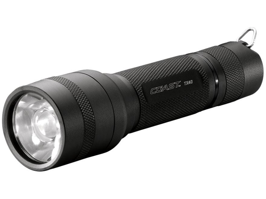 Coast TX40 Flashlight LED with 3 AAA Batteries Aluminum Black