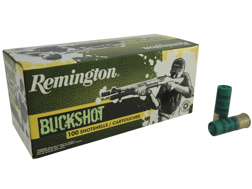 """Remington Express Ammunition 12 Gauge 2-3/4"""" 00 Buckshot 9 Pellets"""