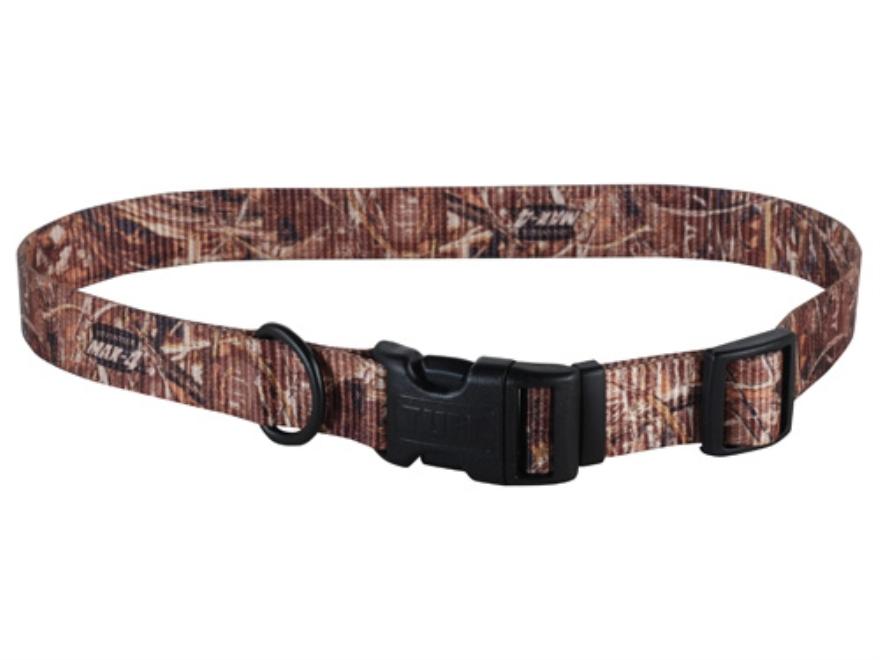 "Remington Adjustable Clip Dog Collar 1"" x 18-26""  Nylon Realtree Max-4 Camo"