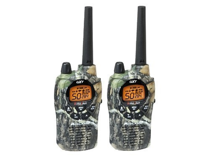 Midland GXT1050VP4 Two-Way Radio with NOAA Weather 50 Channel Mossy Oak Break-Up Camo Pack of 2
