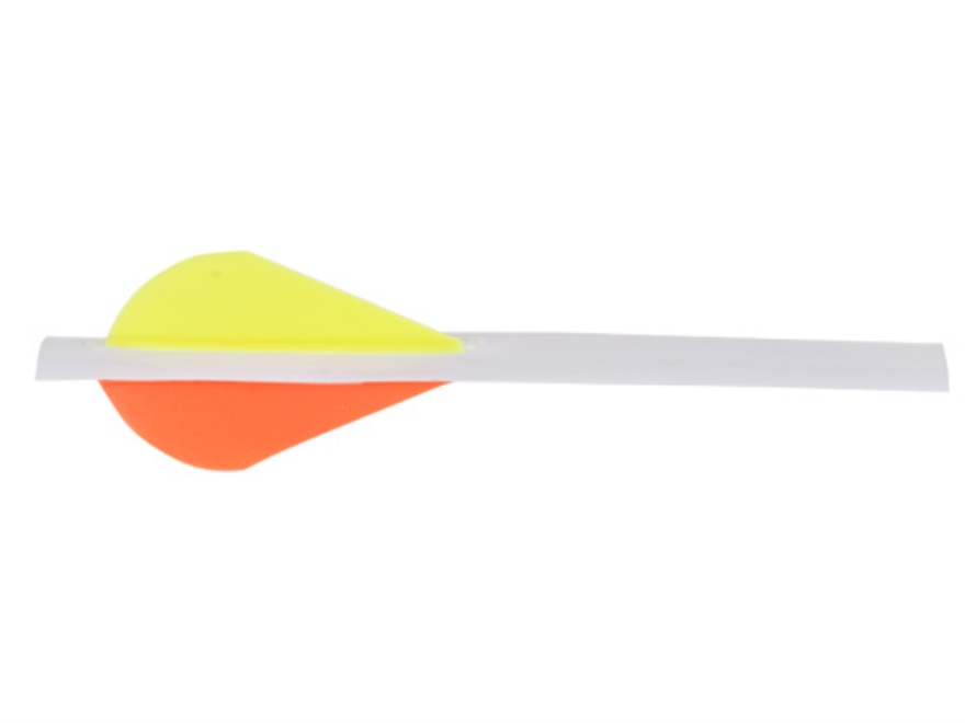 "Extreme Shrink Fletch 2 Arrow Fletching System 2"" Vanes 2 Orange, 1 Yellow with White Tube Pack of 6"