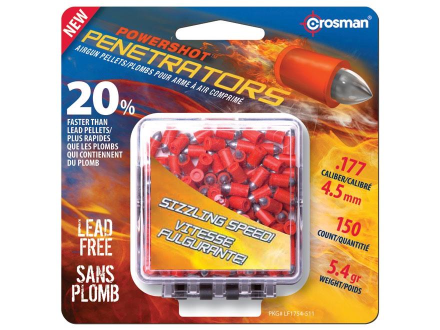 Crosman Fast Flight Penetrators Airgun Pellets 177 Caliber 5.4 Grain Polymer Wrapped Package of 150