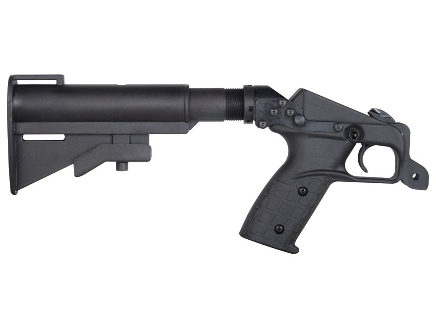 Kel-Tec Pistol Grip and AR-15 Stock Adapter with Collapsible Stock Kel-Tec SU-16, SU-22 Polymer Black