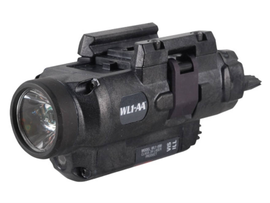 Insight Tech Gear WL1-AA Tactical Illuminator Flashlight with Laser LED   Quick Release Rail Mount Black