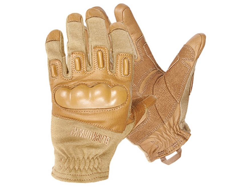 BLACKHAWK! Fury Commando HD Gloves Leather Nylon and Nomex Coyote Tan Large