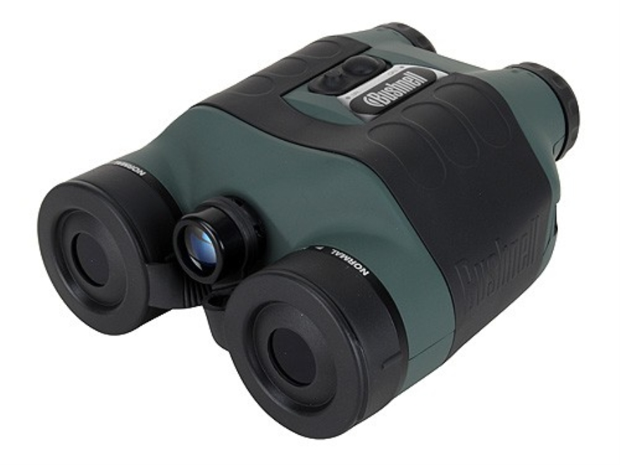 Bushnell 1st Generation Night Vision Binocular 2.5x 42mm Infrared Illumination Green and Black
