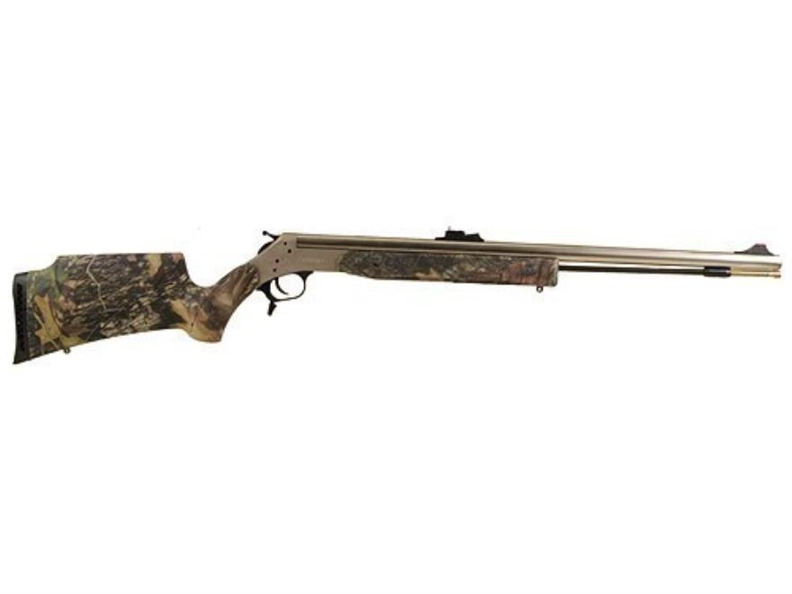 "CVA Optima 209 Magnum Muzzleloading Rifle 50 Caliber Synthetic Stock Mossy Oak Camo 26"" Barrel Nickel Plated"