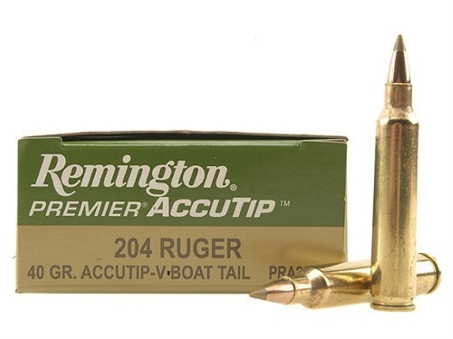 Remington Premier Varmint Ammunition 204 Ruger 40 Grain AccuTip Boat Tail