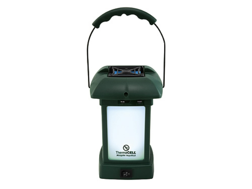 Thermacell Outdoor Lantern 8 White LEDs Mosquito Repellent Olive Green