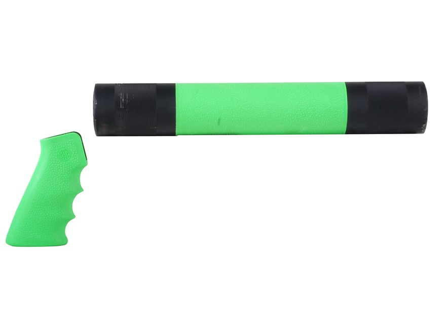 Hogue OverMolded Pistol Grip and Free Float Tube Handguard AR-15 Rifle Length Rubber Zombie Green