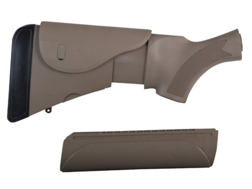 Advanced Technology Akita Adjustable Stock and Forend Set with Cheekrest & Scorpion Recoil Pad Ithaca 37 12 Gauge Polymer Desert Tan