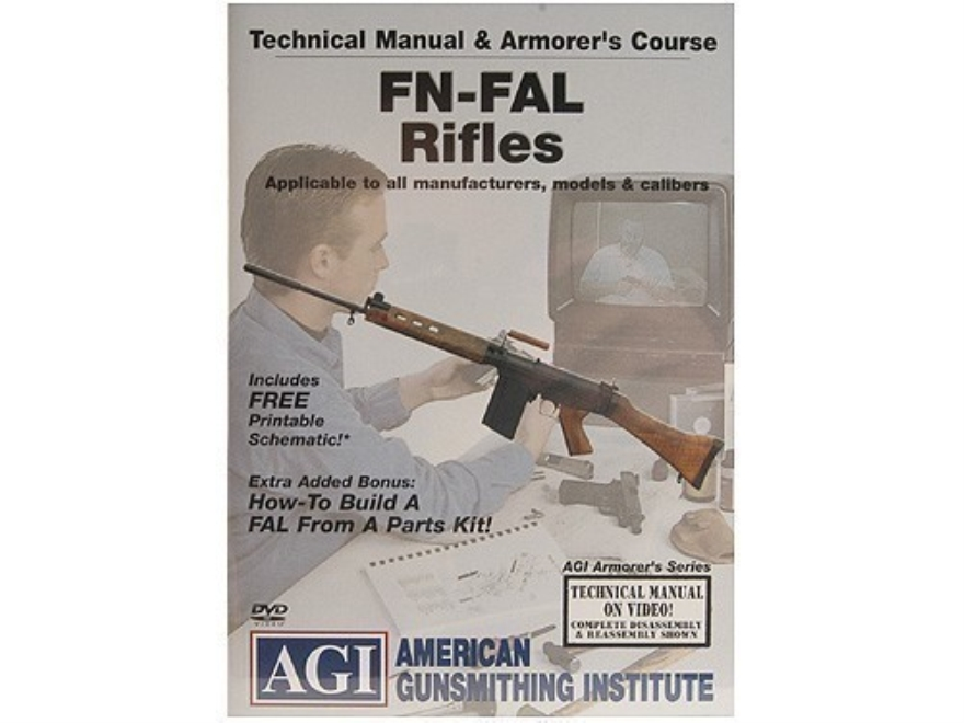 "American Gunsmithing Institute (AGI) Technical Manual & Armorer's Course Video ""FN-FAL ..."