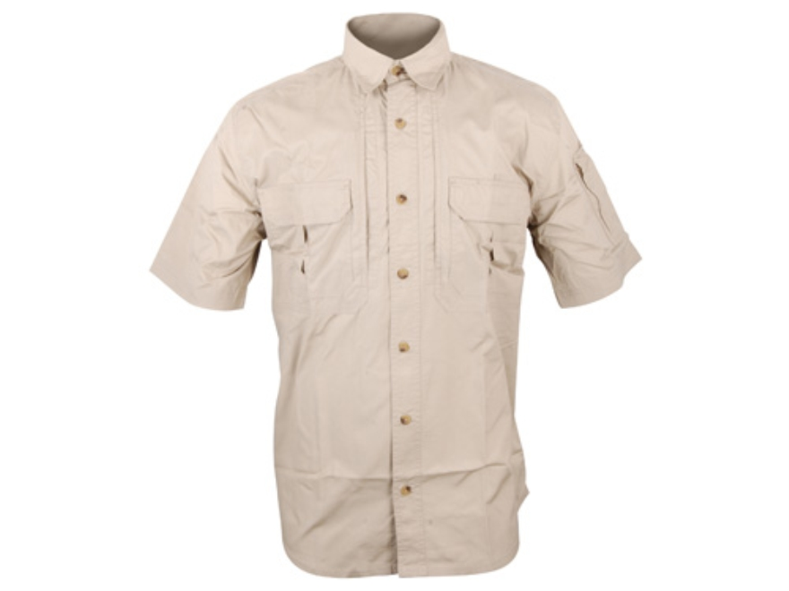 "Woolrich Elite Lightweight Operator Shirt Short Sleeve Cotton Khaki XL (46"" to 48"")"