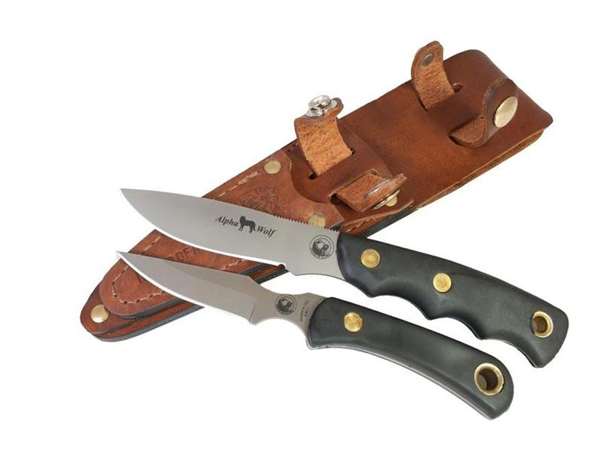 Knives of Alaska Alpha Wolf/Cub Bear Combo Fixed Blade Knife S30V/D2 Tool Steel Blades