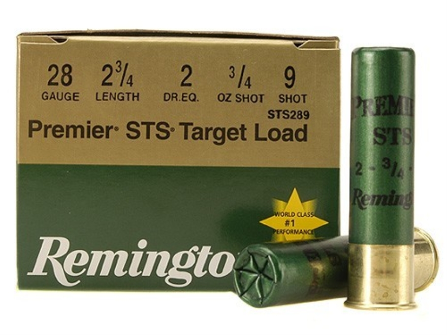 "Remington Premier STS Target Ammunition 28 Gauge 2-3/4"" 3/4 oz #9 Shot"