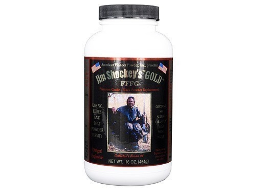 American Pioneer Jim Shockey's Gold FFFg Black Powder Substitute 1 lb