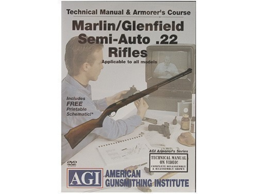 "American Gunsmithing Institute (AGI) Technical Manual & Armorer's Course Video ""Marlin/Glenfield Semi-Auto .22 Rifles"" DVD"