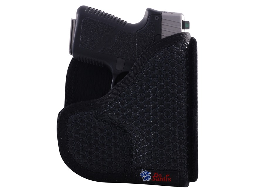 DeSantis Super Fly Pocket Holster Ambidextrous Glock 43, Kahr K9, P9, MK9, CM9, PM9, Kel-Tec PF9, Ruger LC9 Nylon Black