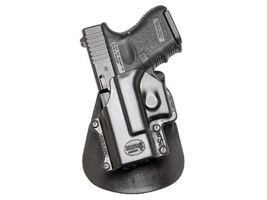 Fobus Paddle Holster Left Hand Glock 26, 27, 33 Polymer Black